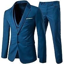 Traje de 3 piezas con chaqueta, chaleco y pantalones, hombre, de cuadros,