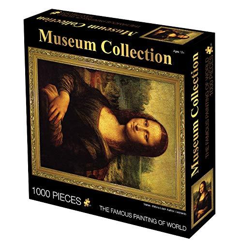 XYDESIGN Weltberühmte Gemälde 1000 Puzzles Star Papier Spielzeug Geschenk Puzzle 70 * 50cm Mona Lisa