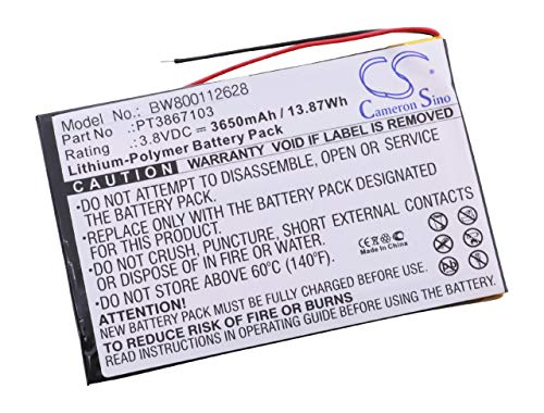 vhbw Li-Polymer Akku 3650mAh (3.8V) für Tablet Netbook Pad RCA 7 Zoll, RCT6272W23 wie PT3867103. (Rca Rct6272w23)