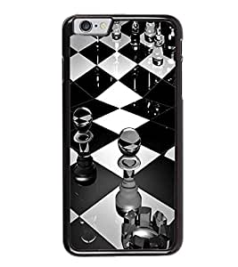 HiFi High Glossy Designer Phone Back Case Cover Apple iPhone 6S ( Chess Board Black and White )