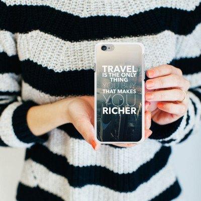 Apple iPhone X Silikon Hülle Case Schutzhülle Sprüche Reisen Stadt Silikon Case weiß