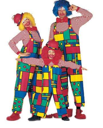Damen-Kostüm Latzhose Clown, Gr. 46 PREISHIT