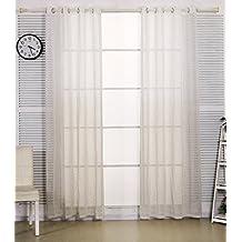 woltu u un par de cortinas con ojales cortinas paneles rayas lino with cortinas de lino - Cortinas Lino