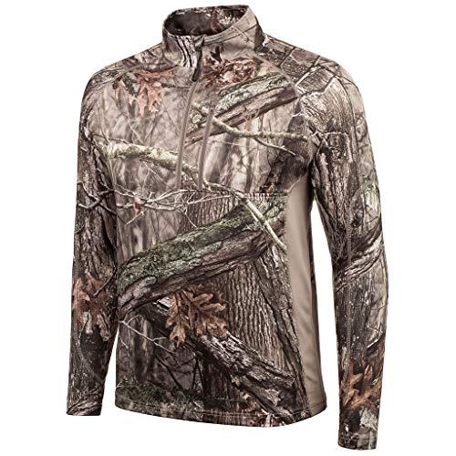 Huntworth Herren Fleece-Jagdpullover mit 1/4-Reißverschluss, Herren, Men's Mid Weight ¼ Zip Performance Fleece Hunting Pullover, Hidden, XX-Large Xx Bonded Fleece