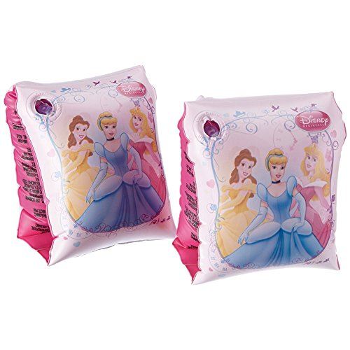 GUIZMAX Bestway S91041EU Brassards pour Fille Rose/imprimé Princesses Disney 23 x 15 cm
