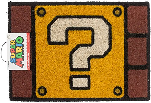 Super Mario Question Mark Block Door Mat (Block Mario)