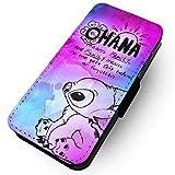 WTF   Ohana Pink & Blau Paint Splat   Kunstleder Flip-Telefon Fall  , Samsung Galaxy S7