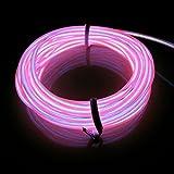 Lerway® 3M Elektrolumineszenz EL Wire Rope LED Beleuchtung Weihnachten Licht Party Autobatterie Beleuchtet Flexibel Streifen- Rosa