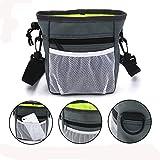 Aufbewahrungstasche,UMILLER Snack Bag,Hunde Futterbeutel,Hunde Leckerli Tasche für Hundetraining mit Umhängegurt (Grau)
