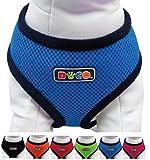 Hunde-Softgeschirr aus Air-Mesh verschiedene Farben und Größen XS, S, M, L: Brustgeschirr, Laufgeschirr, Führgeschirr, verstellbar, leicht, gepolstert, luftdurchlässig, atmungsaktiv, soft, weich, stark, stabil, farbig, für große und kleine Hunde (Leine und Halsband separat erhältlich) (Farbe Blau, Größe B (S) - 26 x 33-43 cm)