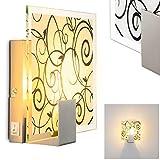 Dekorative Wandleuchte mit wunderschönem Dekoglas, Wandstrahler Rusty mit Schalter - Leselampe für Wohnzimmer, Schlafzimmer, Flur - Wandspot mit tollem Muster, extravagante Leuchte mit E27 Fassung