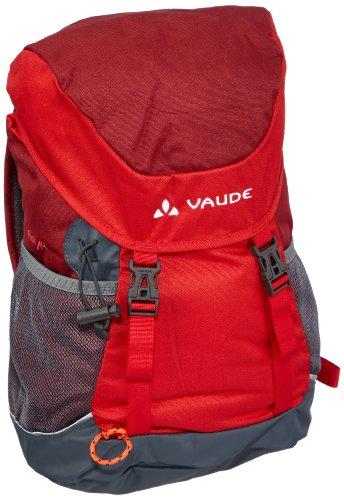 Vaude Unisex - Kinder Rucksack Puck, 48 x 25 x 18 cm, 14 Liter, Rot (salsa/red) - Pack Geschenk-tasche