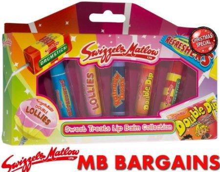 Swizzels Matlow Retro Süß Leckerli Lippenbalsam Kollektion- Weihnachtsgeschenk Set
