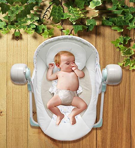 SHARESUN Silla de balancín para bebés y niños pequeños, Silla de Hamaca y Mecedora para bebés, conexión Inteligente con Asiento Giratorio para bebés con Control Remoto, Adecuado para recién Nacidos