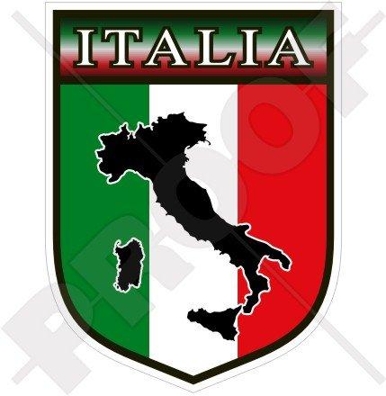 ITALIE Italien Écusson ITALIEN, 100mm Vinyl Sticker, Autocollant