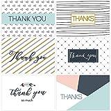 Amosfun Danke Karten 6 Einzigartige Entwürfe Freier Raum Danken Ihnen Anmerkungen Mit Umschlägen Und Dichtungsaufklebern Für Erntedankbabydusche, Satz Von 30