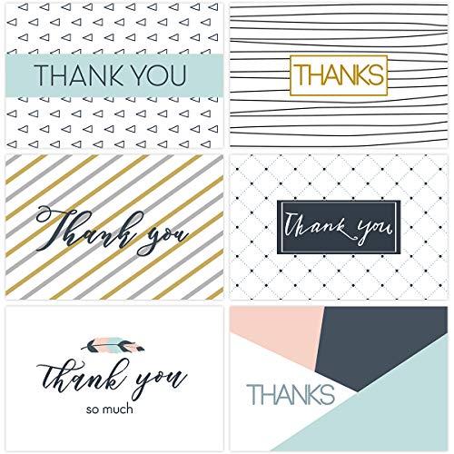 6 Einzigartige Entwürfe Freier Raum Danken Ihnen Anmerkungen Mit Umschlägen Und Dichtungsaufklebern Für Erntedankbabydusche, Satz Von 30 ()