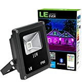 LE RGB Fluter 10W Mehrfarbiger Smart Bluetooth LED Scheinwerfer dimmbare Partylampe Flutlicht Farbwechsel wasserdichter Strahler