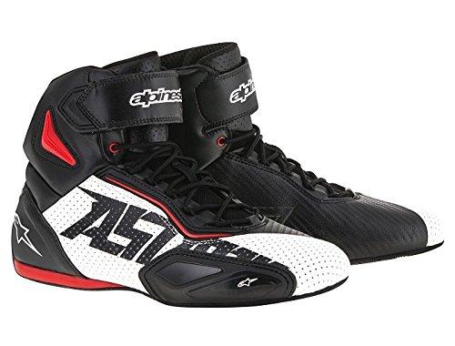 Preisvergleich Produktbild Alpinestars FASTER 2 VENTED Herren Motorradschuh Mikrofaser - schwarz weiss rot Größe 45