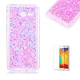 For Samsung Galaxy J5(2017 Model) Case J520 Cover [with Free Screen Protector], Funyye Fashionable Lovely and Sparkly Designer Shockproof Shock Absorber Soft Rubber Gel TPU Protective Case Cover Skin Shell for Samsung Galaxy J520 J5(2017 Model)- Pink