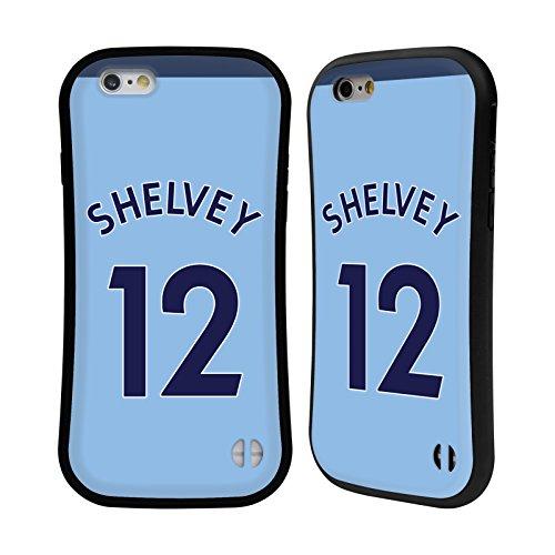 Ufficiale Newcastle United FC NUFC Mohamed Diamé 2017/18 Giocatori Away Kit Gruppo 2 Case Ibrida per Apple iPhone 6 / 6s Jonjo Shelvey