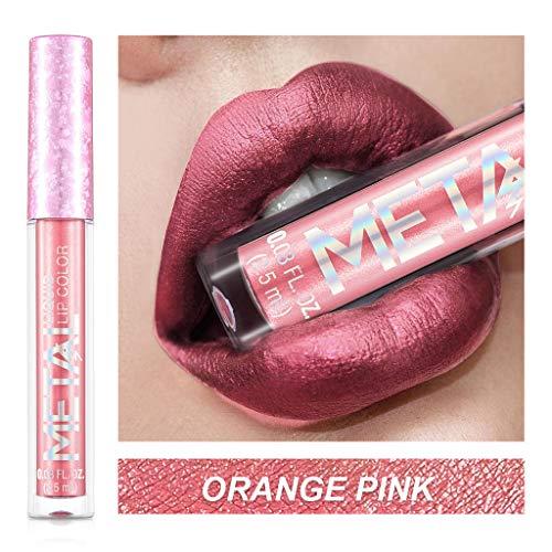 JXQ-N Lipstick Matte Lipgloss Lippenstift Wasserdichte Langlebige Color & Care Lippenstift Langanhaltender und pflegender Farbintensiver Lipstick für EIN intensives Farbfinish