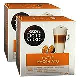 Nescafé Dolce Gusto Latte Macchiato, Kaffee, Kaffeekapsel, 2er Pack, 2 x 16 Kapseln (16 Portionen)