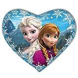 Herz Kopfkissen Disney Anna und Elsa Kristoff Olaf Die Eiskönigin kuschelig weich Kinderspielzeug