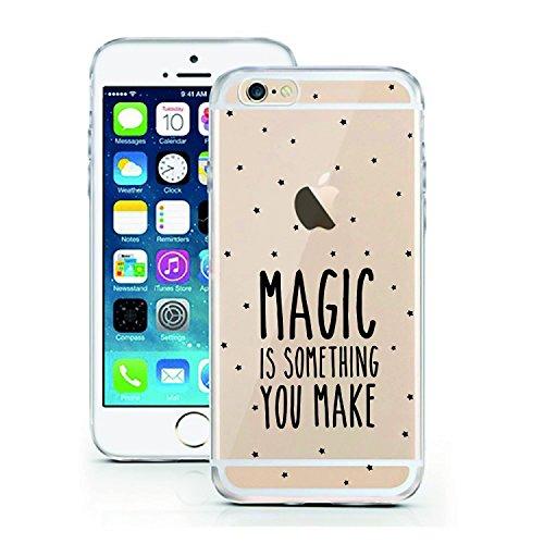 iPhone 5 5S SE Hülle von licaso® für das Apple iPhone 5 5S SE aus TPU Silikon Muster Better Latte Than Never Cafe Frühstück Macchiato ultra-dünn schützt Dein iPhone 5 & ist stylisch Schutzhülle Bumper Magic is Something you Make