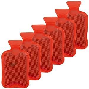 Taschenwärmer 6er Set Handwärmer Heizpad Firebag – Wärmflaschen in rot