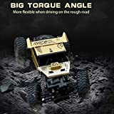 IndusBay 1:12 RC Cars Monster Truck 4WD Dual Motors Rechargeable Off Road Remote Control Truck (Golden)
