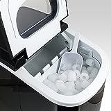 Eiswürfelmaschine, Eiswürfelbereiter, Icemaker in SCHWARZ -