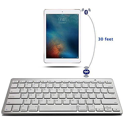 Meteor fire Ultradünne Mode drahtlose Tastatur, tragbare Bluetooth 78 schlüssel Design universal Tastatur mit Schalter eingebauten akku, für Tablet/ipad/Tablet/Smartphone, etc. - Stilvolle Drahtlose Tastatur