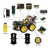 keyestudio 4WD Bluetooth Multifunktions Smart Robot Car Kit für Arduino