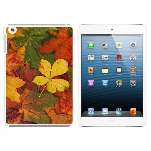 Colorful Autumn Fall Leaves Snap On Hard Schutzhülle für Apple iPad Mini 1. Generation–Weiß