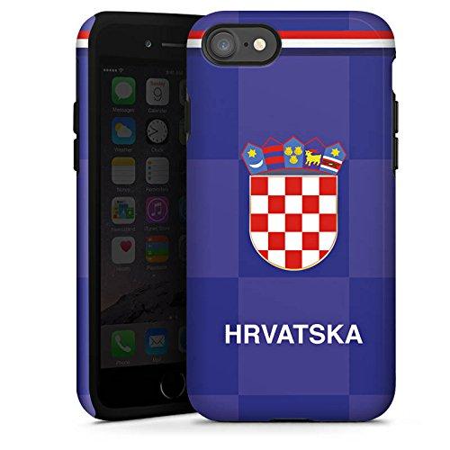 Apple iPhone X Silikon Hülle Case Schutzhülle Fußball Trikot Kroatien Tough Case glänzend