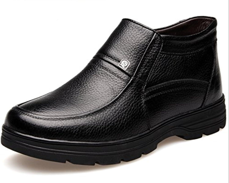 Chensh Invierno Zapatos De Algodón Hombres Cálido Alto Para Ayudar A Los Zapatos De Negocios Informal