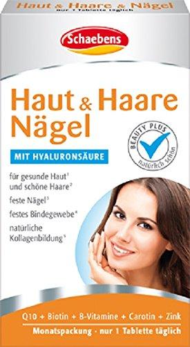 Schaebens Haut und Haare Nägel Tabletten, 1er Pack (1 x 30 Stück) (Nagel-schönheit Versorgt)