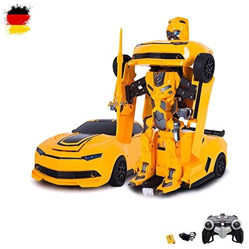 RC ferngesteuertes Roboter-Auto, Transformation per Knopfdruck, 2,4GHz, Komplett-Set RTR inkl. Fernsteuerung, Akku und Ladegerät