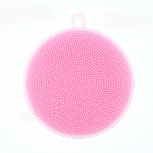 Price comparison product image GerTong Silica gel bowl brushes universal multifunctional silicone antibacterial intelligent vegetable cooking dish cleaning tools,Pink