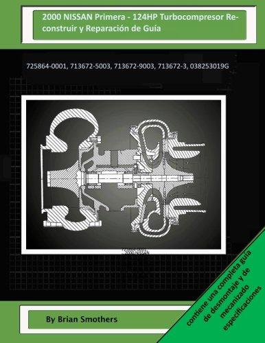 2000 NISSAN Primera - 124HP Turbocompresor Reconstruir y Reparación de Guía: 725864-0001, 713672-5003, 713672-9003, 713672-3, 038253019G