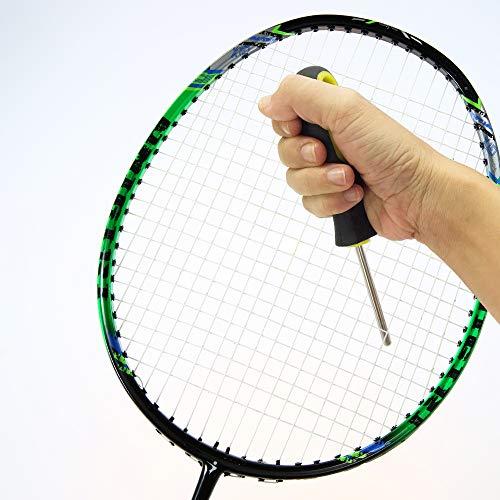 Lepeuxi Attrezzo per Corde diritte Punteruolo per Racchetta per Racchetta da Tennis e Badminton