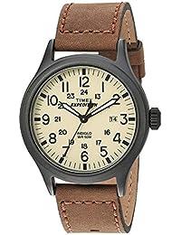 Timex Expedition - Reloj análogico de cuarzo con correa de cuero para hombre, Marrón (