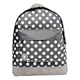 Mi-Pac Backpack Grey | Ideal School Bag, Travel Daypack Or Laptop Bag for Boys & Girls - Men & Women | Quality Water Resistant Rucksack - 17L Polka Dots