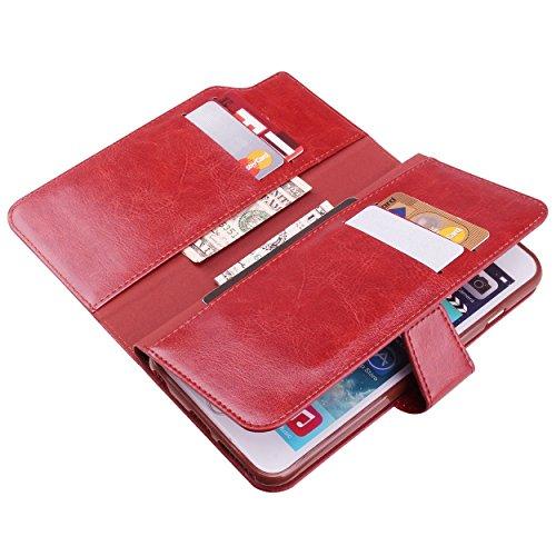 iPhone 6 6S Plus Geldbörse Tasche, True Color® [Karte Halter Pro] Premium Kunstleder Magnetic Folio Wallet Case Cover, Fall Hülle Wine