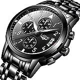 Best Men Watches - Men's Stainless Steel Wrist watches Men Waterproof Analog Review