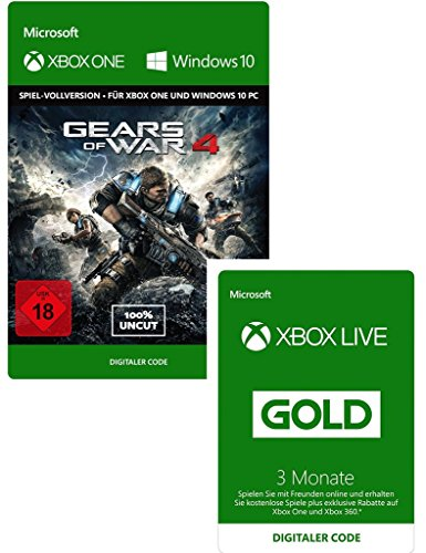 Gears of War 4 - Standard Edition + Xbox Live - Gold-Mitgliedschaft 3 Monate [Xbox Live Online Code] (Live Xbox Gold)