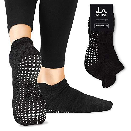 LA Active Grip Socken - Yoga Pilates Barre Ballet rutschfest (Stellar Black)