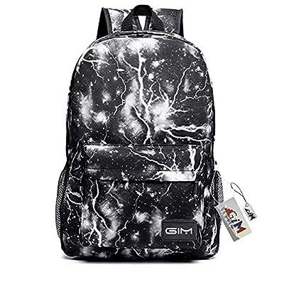 Global I Mall Unisex Galaxy School Backpack Canvas Rucksack Laptop Book Bag Satchel Hiking Bag