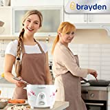 Brayden Rizo, 700 W Electric Rice Cooker with One-Step Automatic Cooking (Pearl White, 1.8 Litre)